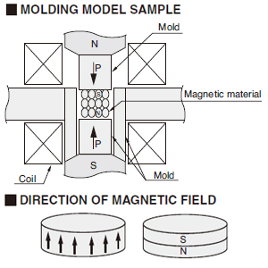 Molding Model Sample, Direction Of Magnetic Field
