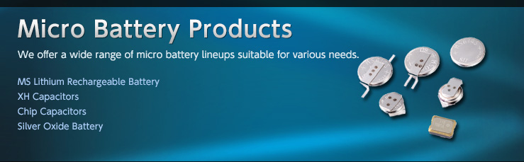 Micro Battery Products - We offer a wide range of micro battery lineups suitable for various needs.